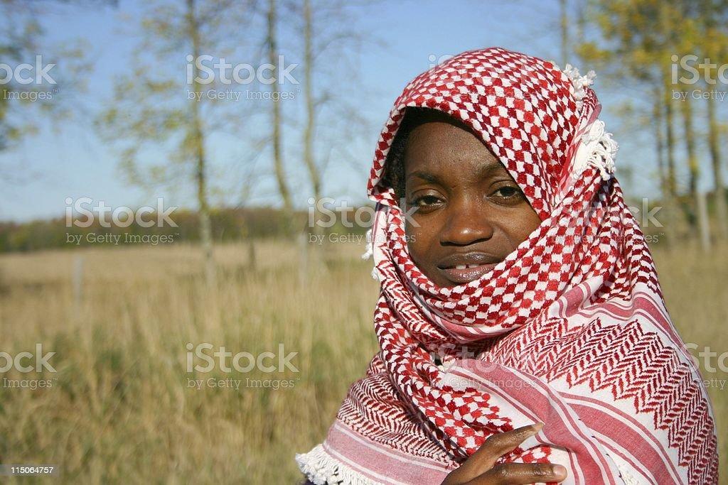 behind the shawl/woman royalty-free stock photo