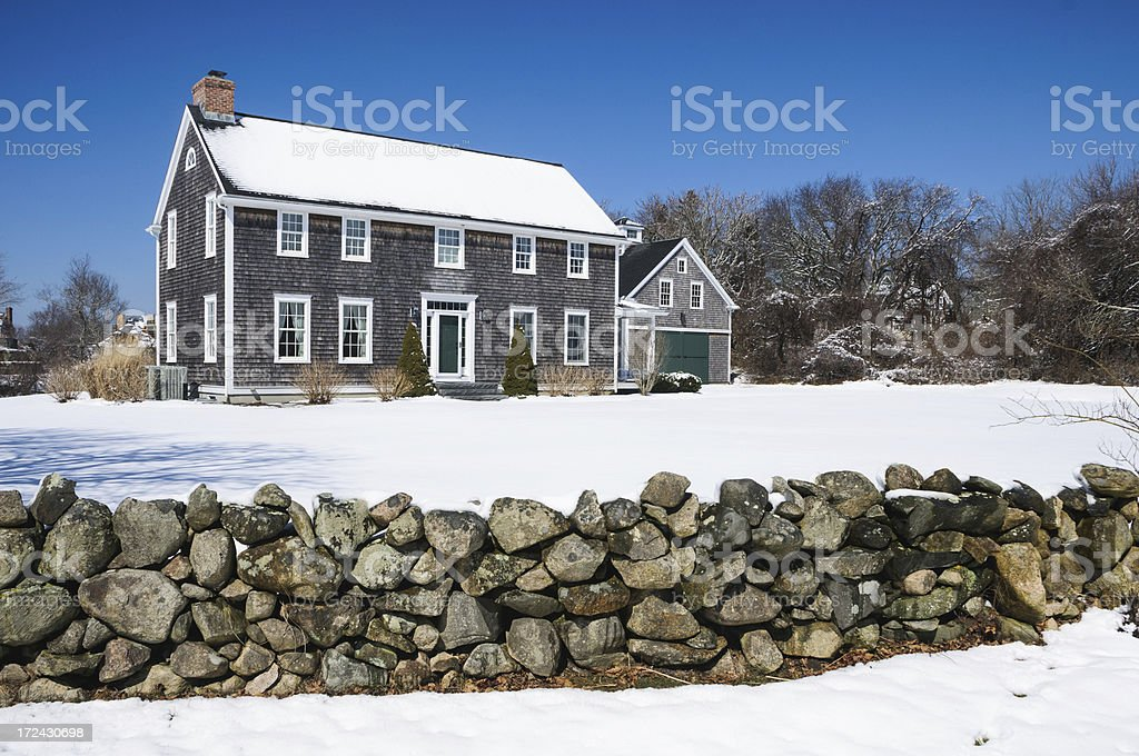 Behind the Stone Wall stock photo
