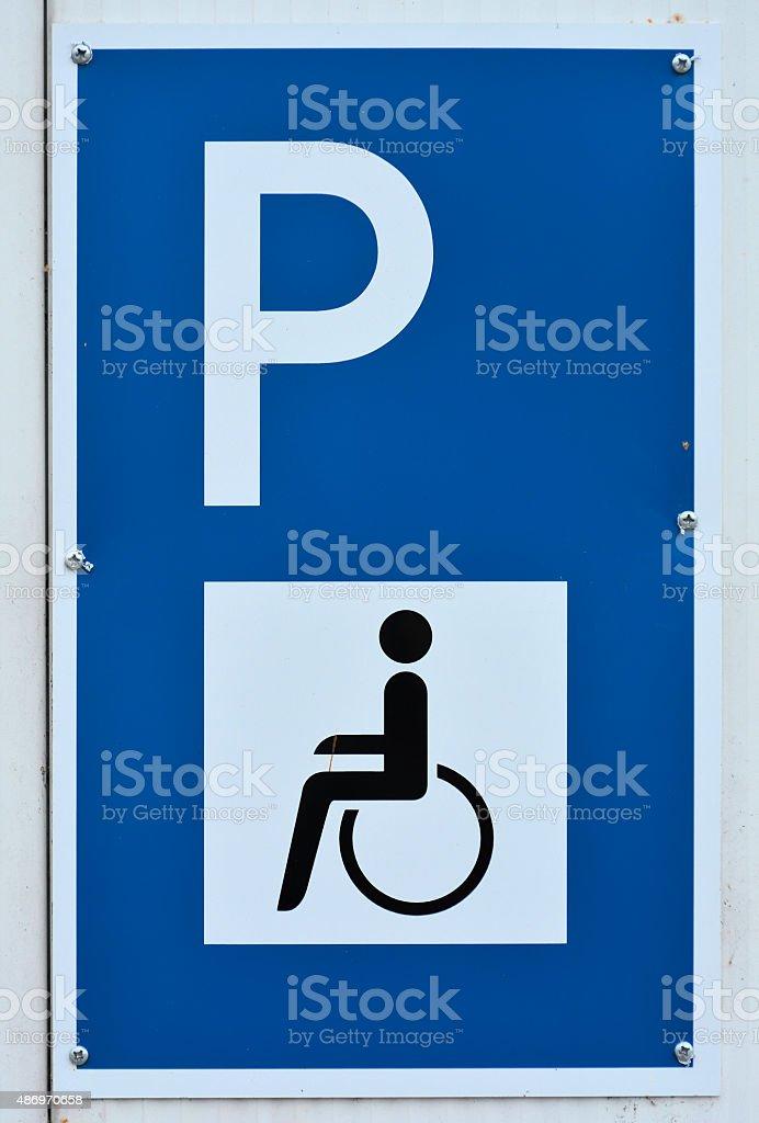 Behindertenparkplatz stock photo