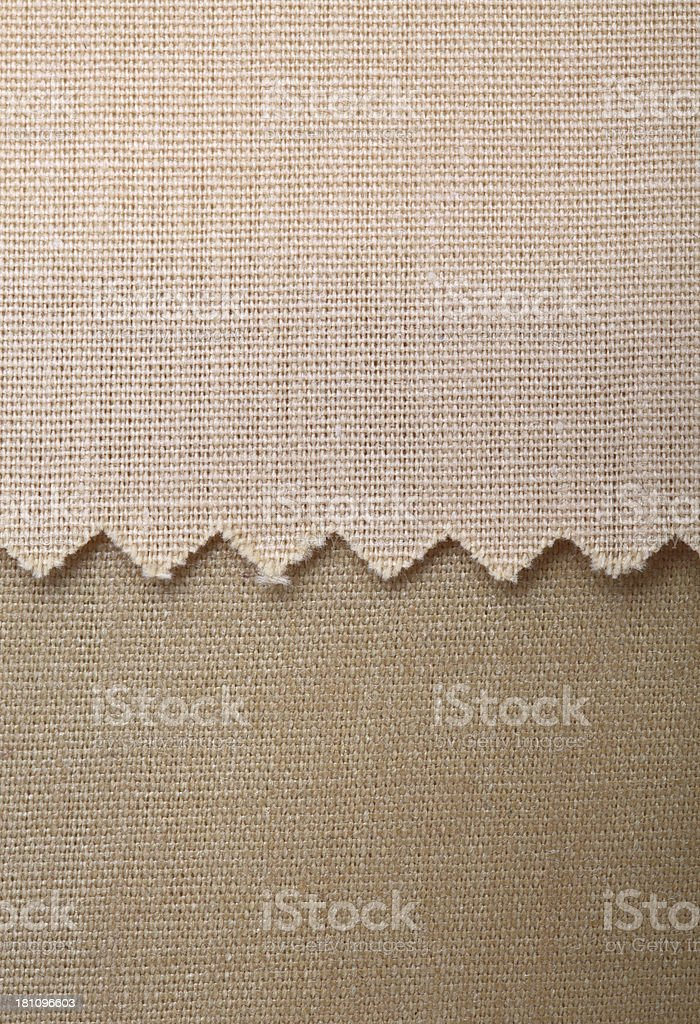 Beige and Brown Fabric Swatch Background royalty-free stock photo
