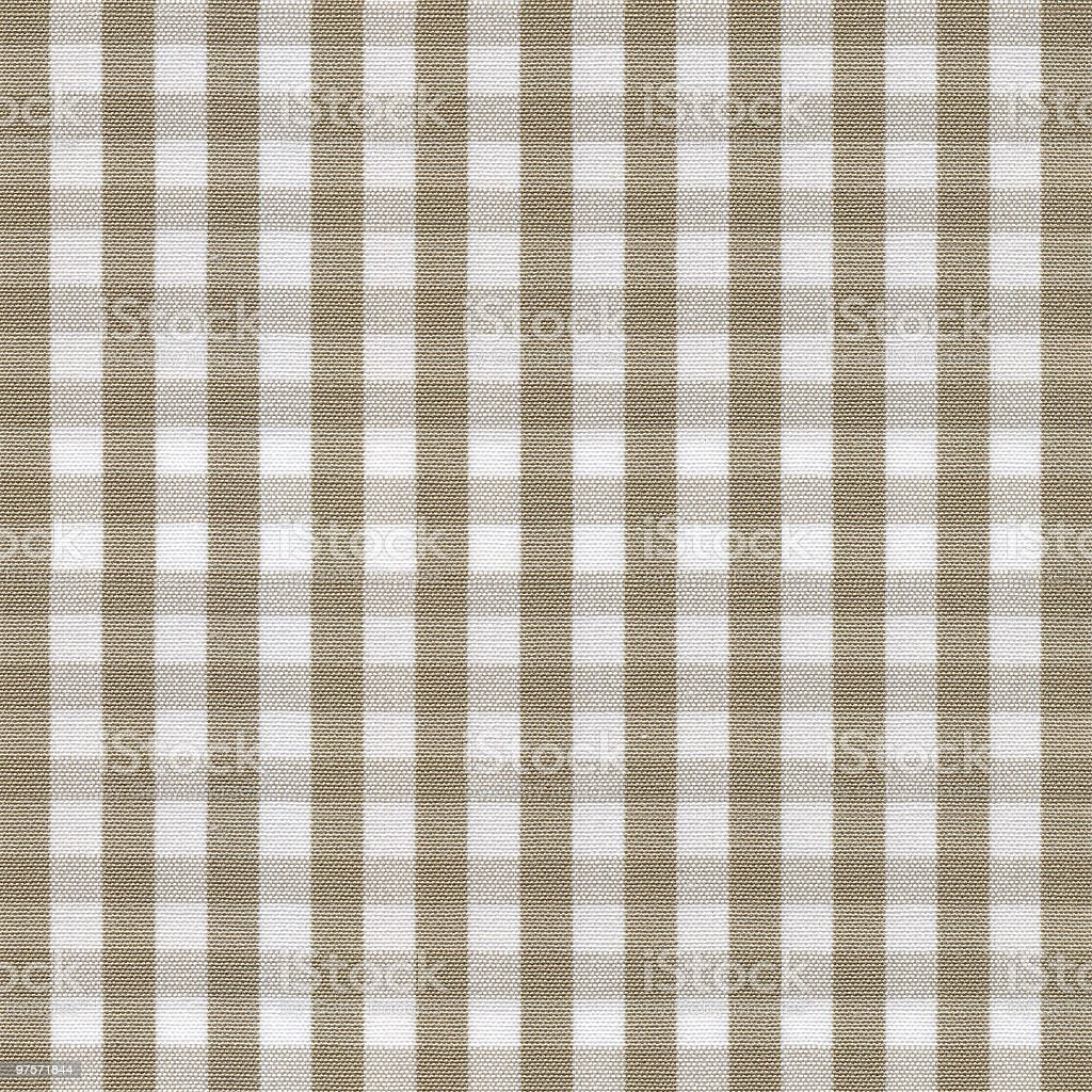 Beige and White Gingham Tablecloth Pattern royalty-free stock photo