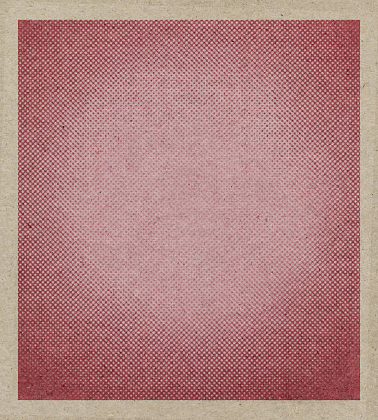 beige antique paper with halftone stock photo