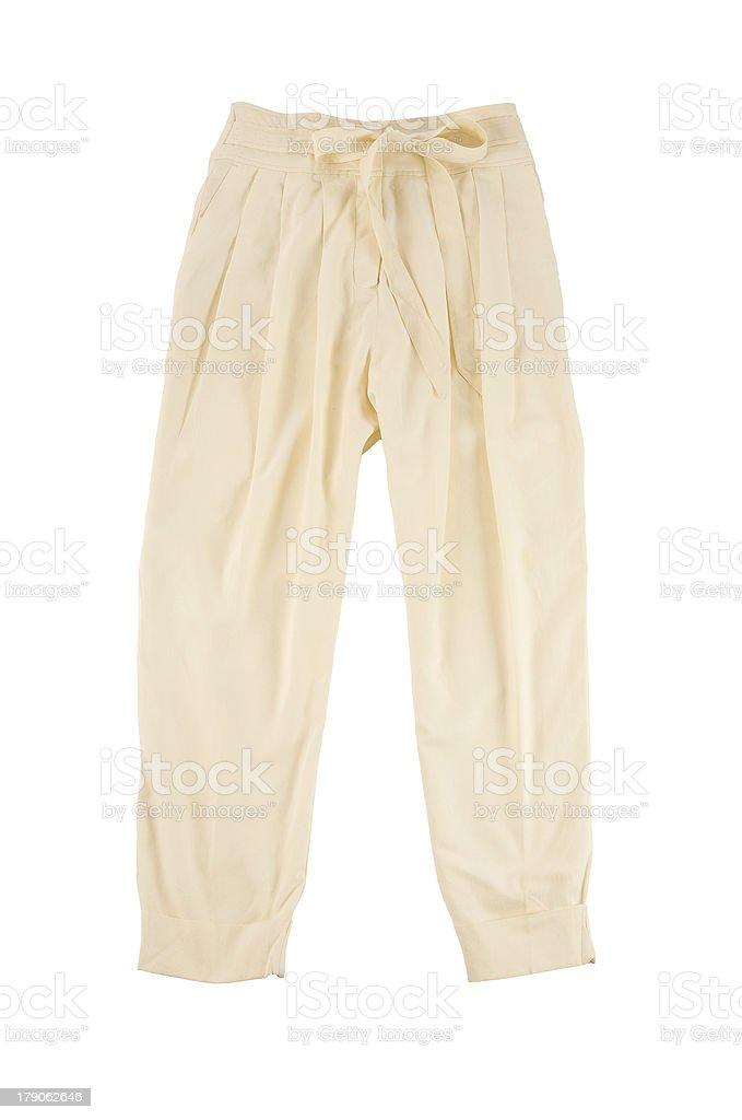 Beige baggy pants stock photo