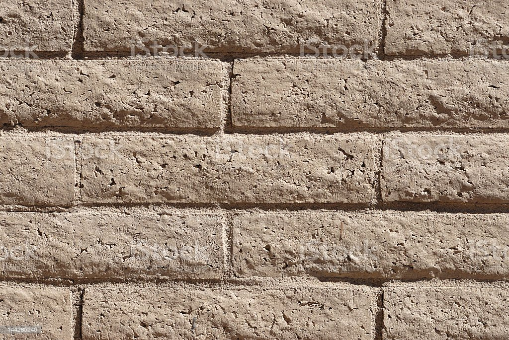 Beige Brick Wall royalty-free stock photo
