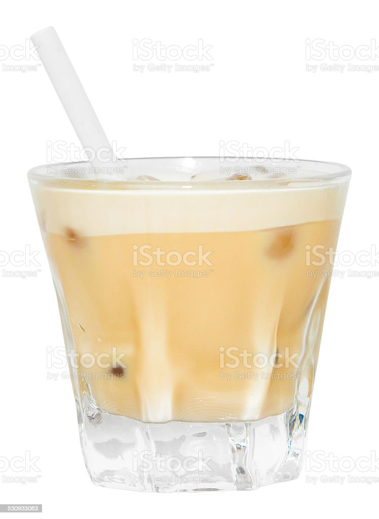 Beige Brown Creamsicle Drink stock photo