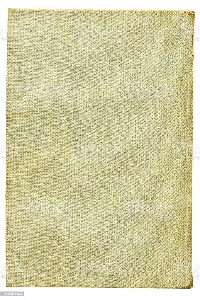 Beige burlap canvas. Over white royalty-free stock photo
