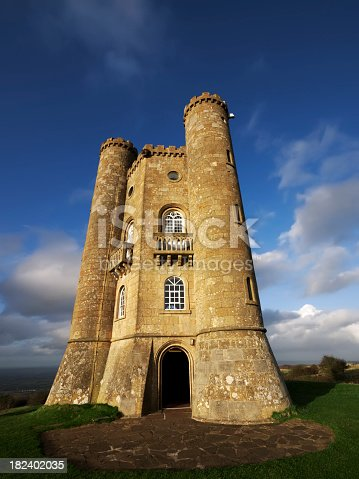 a castle and tower with turrets - broadway tower the cotswolds worcestershire