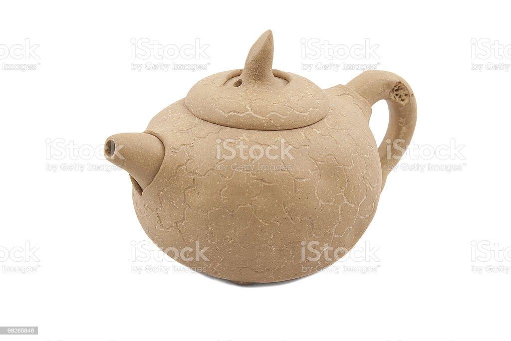 beige ceramic teapot royalty-free stock photo