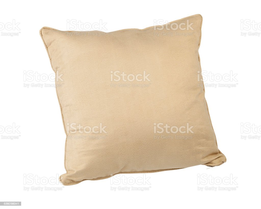 beige color cushion stock photo