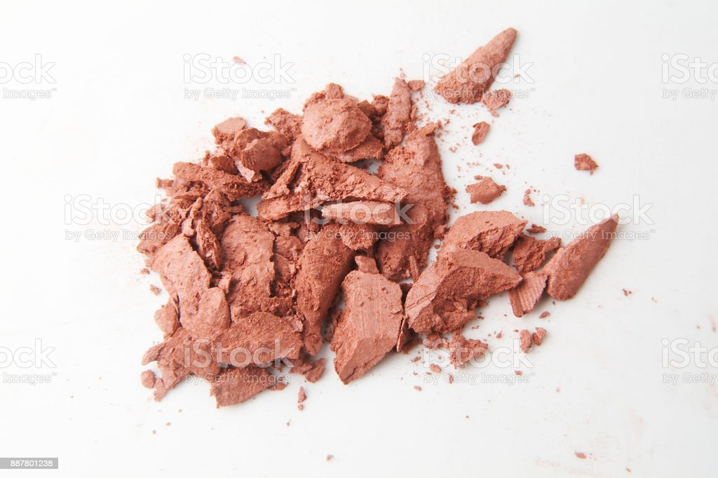 Beige cosmetic powder background stock photo