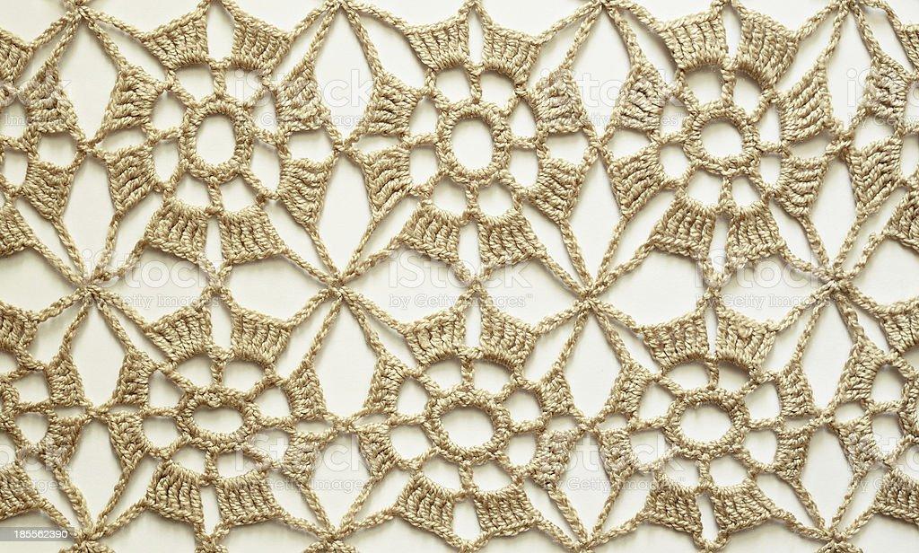 Beige crochet lace royalty-free stock photo
