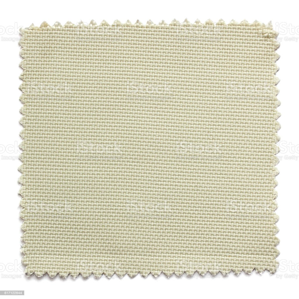 beige fabric swatch samples isolated on white background stock photo