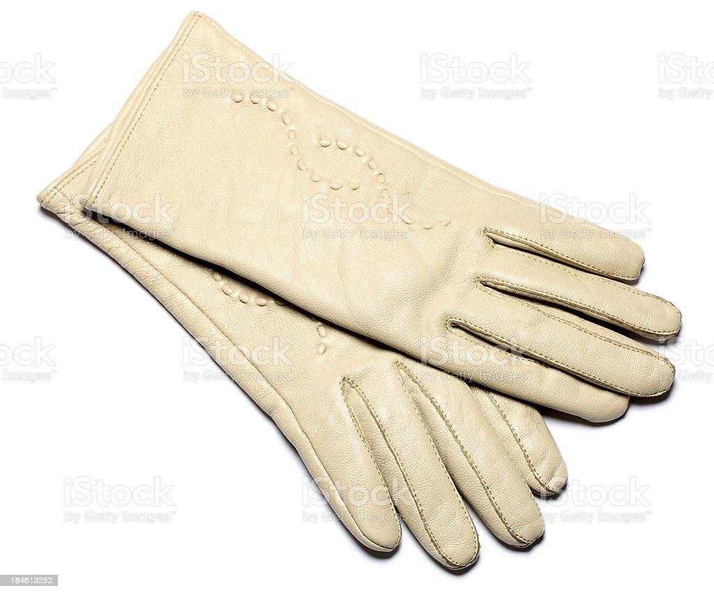 beige glove stock photo