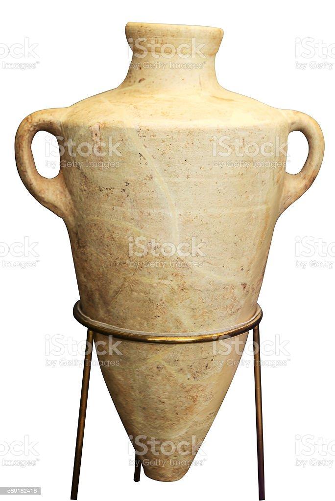 beige greek amphora - Photo