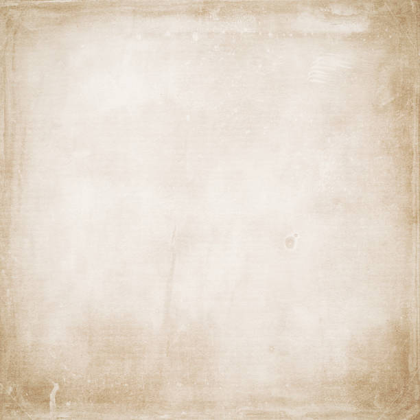 beige grunge background, old paper texture, sheet, blank, dirty, stains, rough, vintage - beige background stock photos and pictures