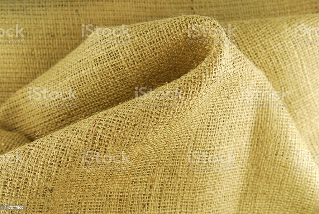 beige hessian fabric texture royalty-free stock photo