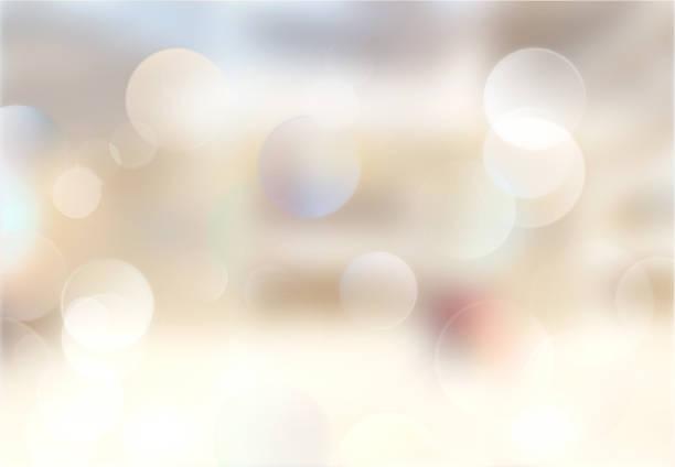 ベージュの屋内ブレのある画像のバックグラウンド。 ストックフォト