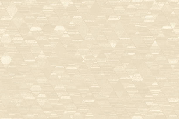 beige ivory grunge diamond triangle pattern seamless light camel texture geometric ornament minimalism computer graphic - beige background stock photos and pictures