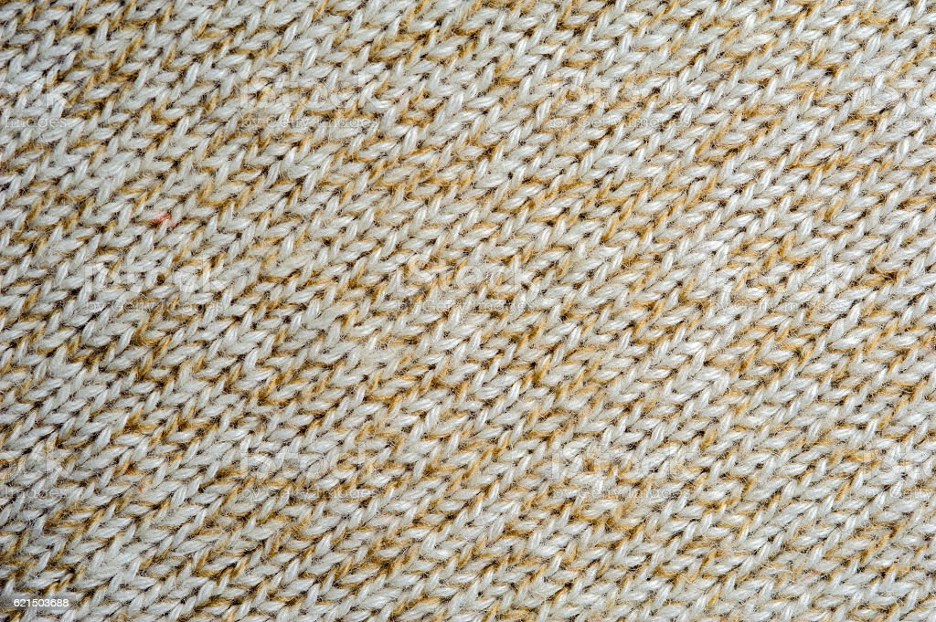 Beige knitted woolen fabric texture photo libre de droits