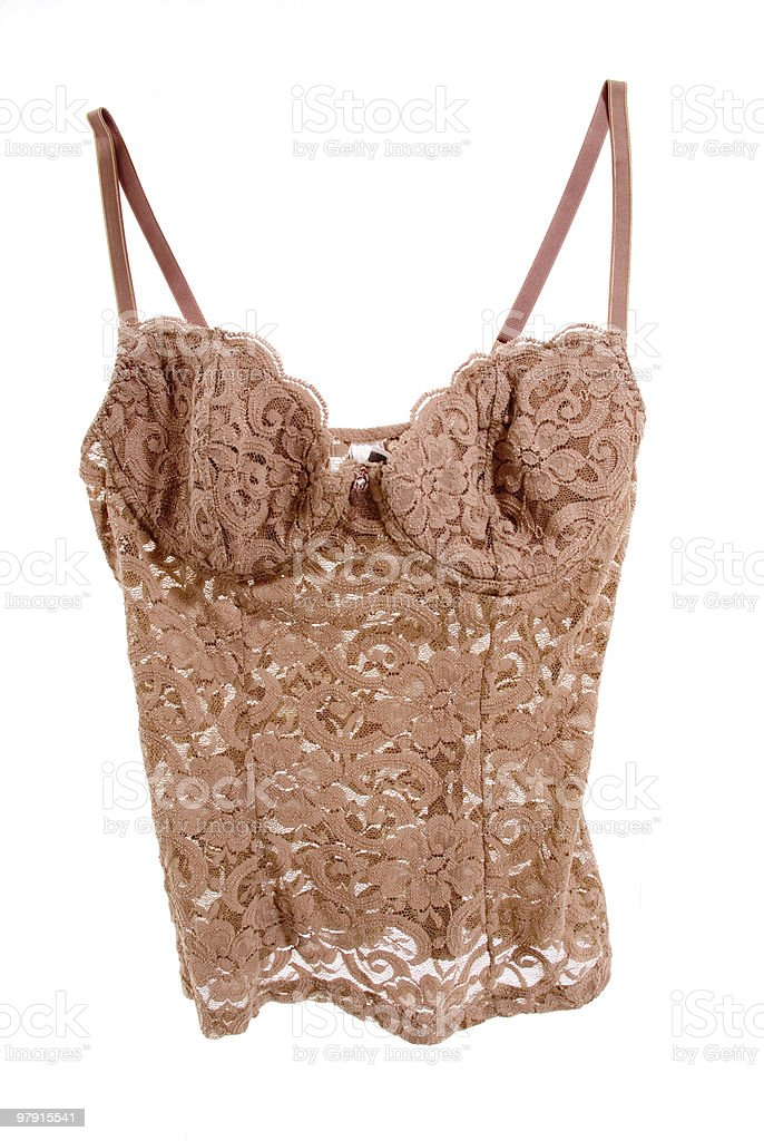 Beige lace top royalty-free stock photo