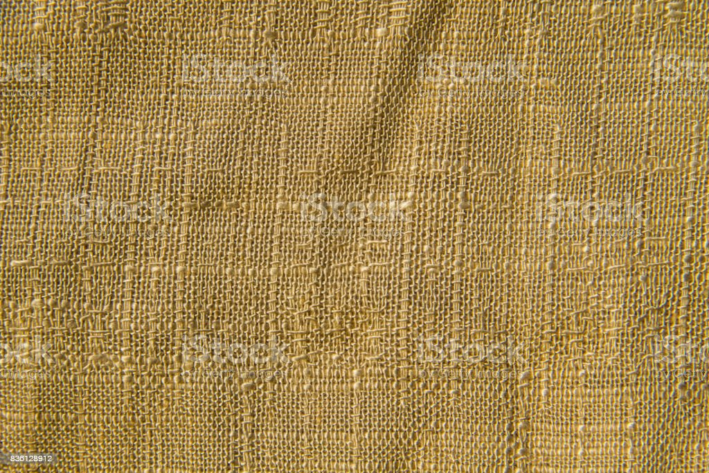 Beige linen fabric texture for background stock photo
