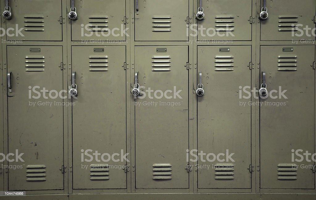 Beige Lockers stock photo