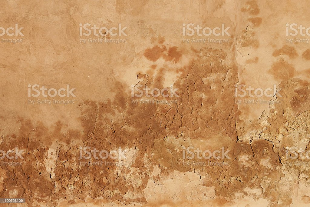Beige Moroccan Wall royalty-free stock photo