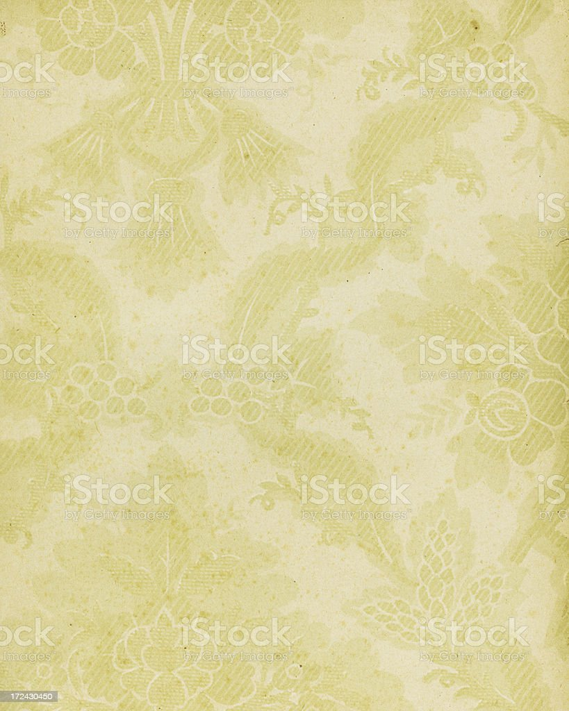 beige paper with antique floral pattern royalty-free stock photo