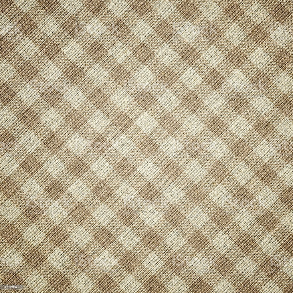 Beige Plaid Fabric background textured stock photo