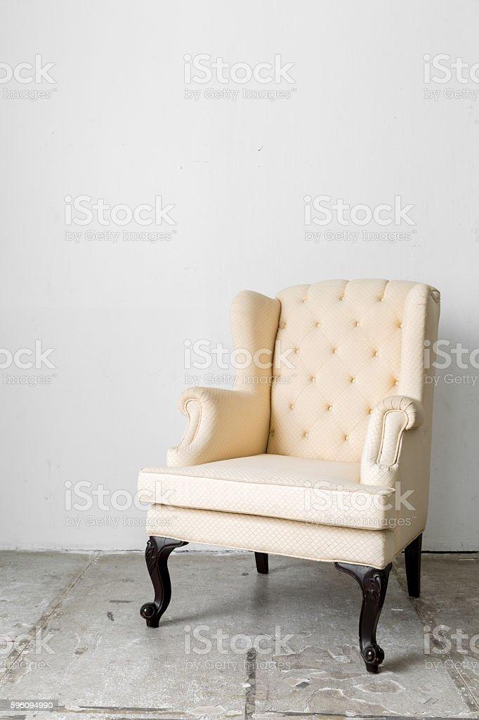 beige retro chair royalty-free stock photo