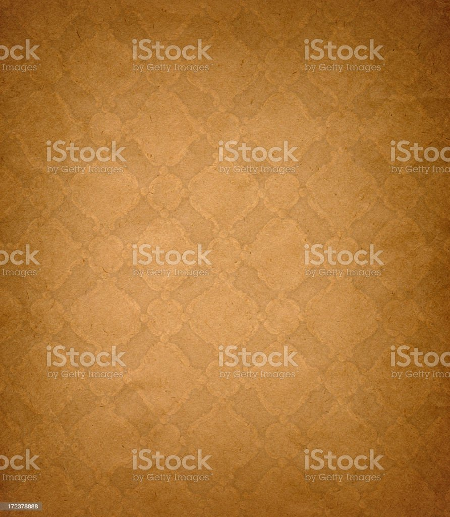 Beige retro paper background with light pattern royalty-free stock photo