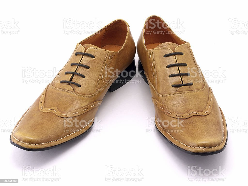 Beige shoes royalty-free stock photo