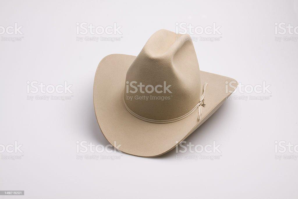 Beige Stetson Cowboy Hat royalty-free stock photo