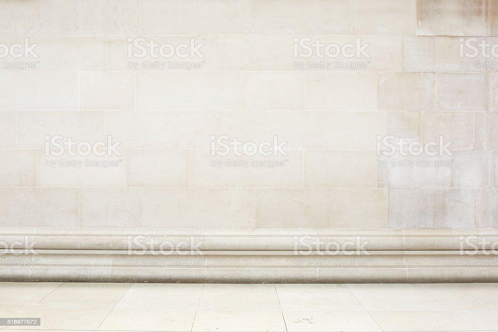 Beige Stein Gefliesten Wand Und Boden Mit Dekoration Grenze Lizenzfreies  Stock Foto