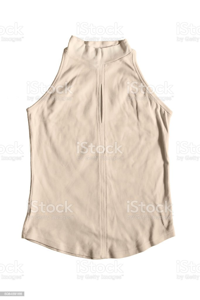 Beige top stock photo