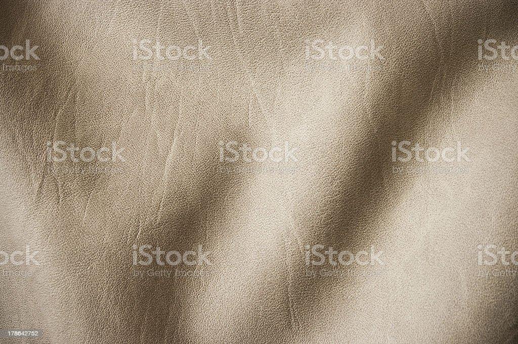 Beige undulating leather royalty-free stock photo
