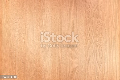 Clear beige wooden panel close up. Texture and background