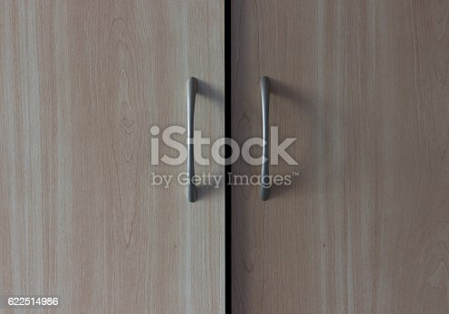 535191355istockphoto beige wooden wardrobe handle 622514986