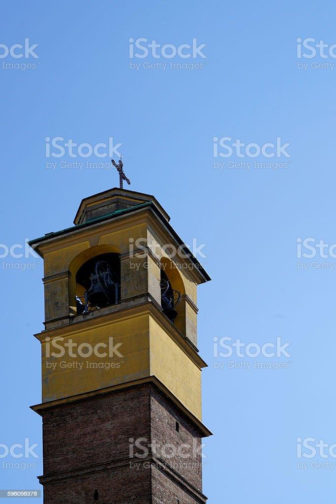beige-brown church steeple royalty-free stock photo