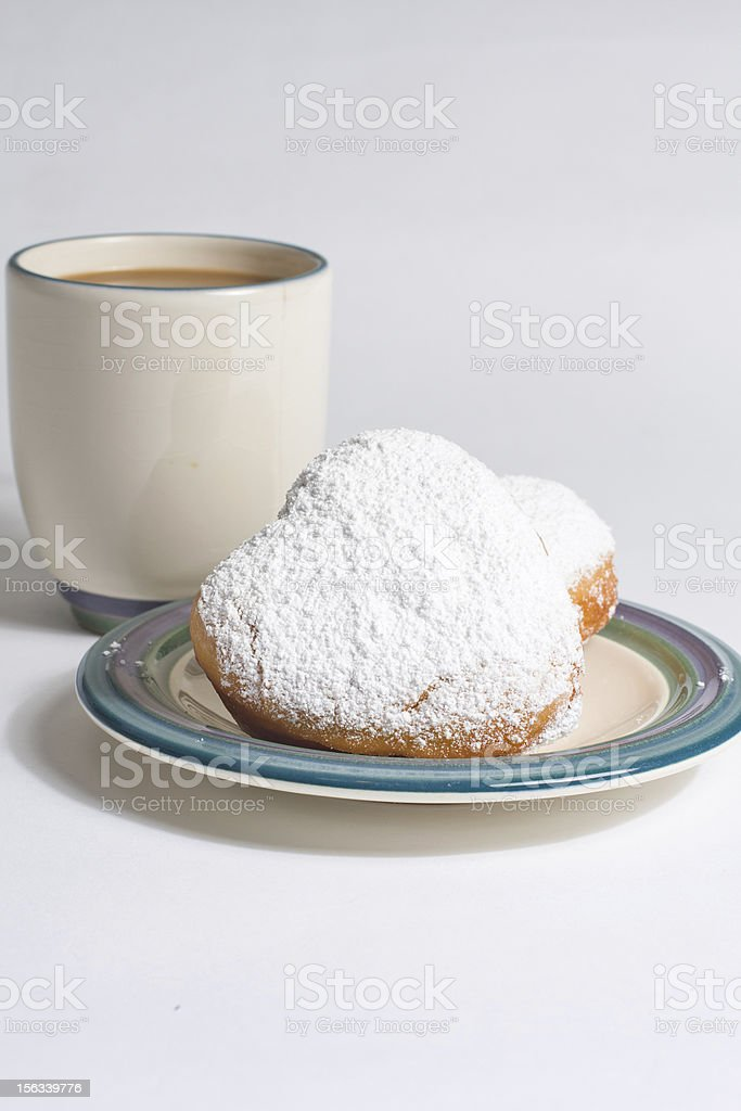 Beignets and Coffee stock photo