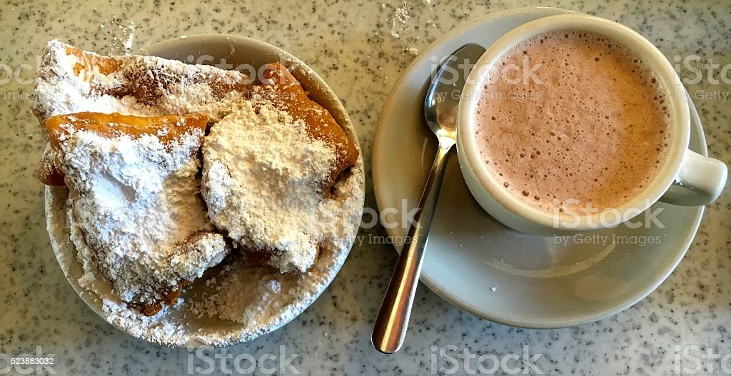 Beignets for Breakfast stock photo