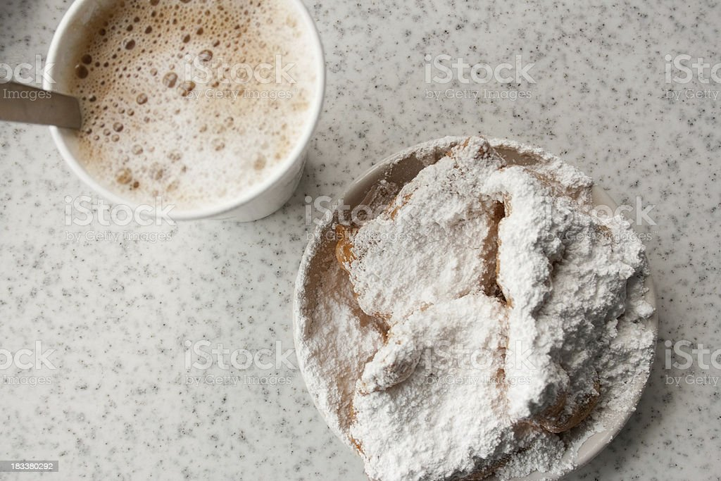Beignets from Cafe in New Orleans stock photo