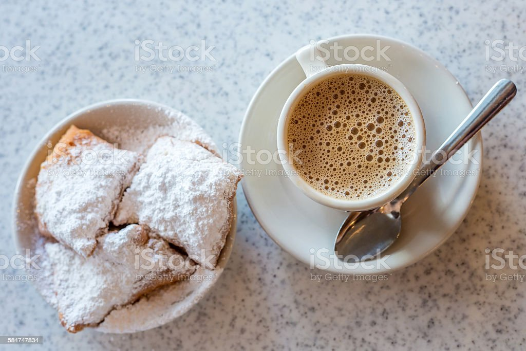 Beignets (French style donuts) royalty-free stock photo