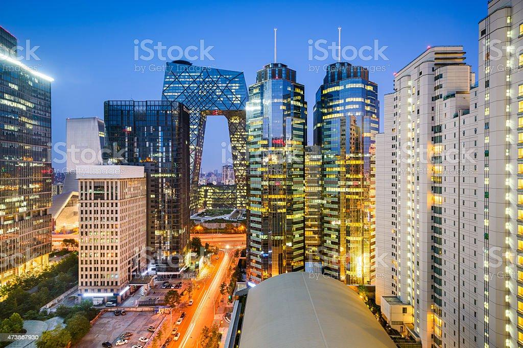 Beijijng CBD Cityscape stock photo