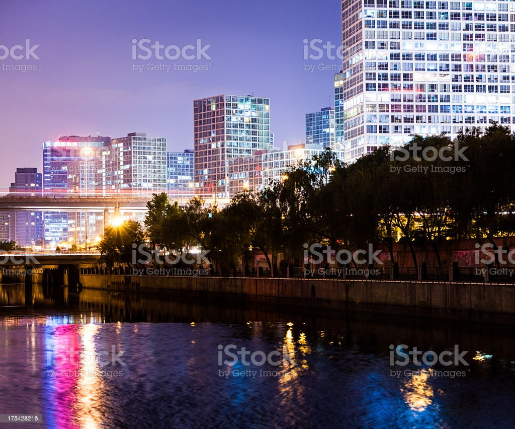 Beijing at sunset royalty-free stock photo