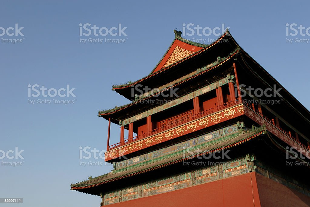 Beijing Bell Tower royalty-free stock photo