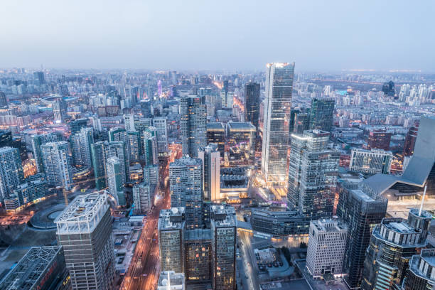 beijing blue hour - dally stock pictures, royalty-free photos & images