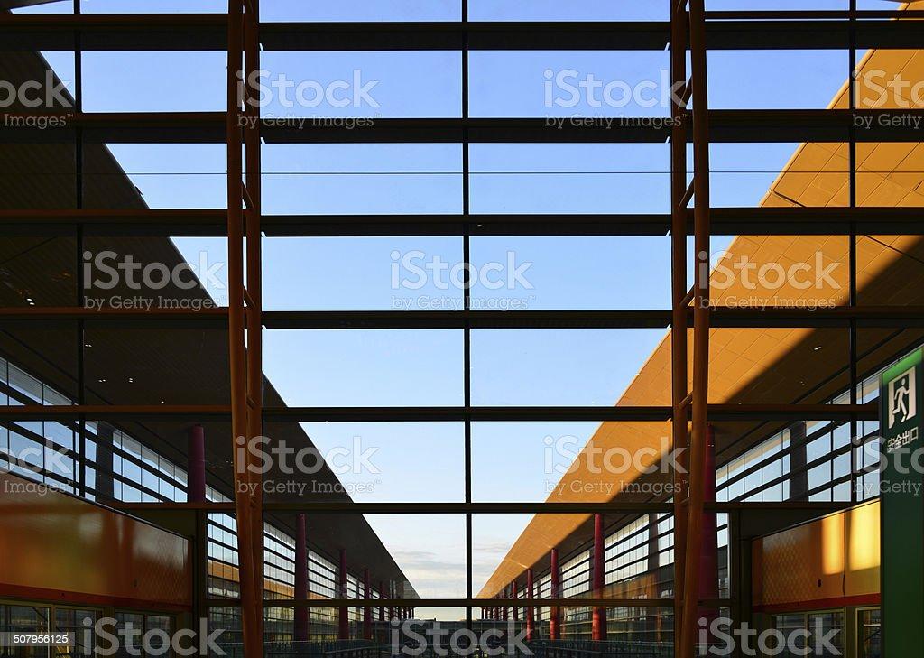 Beijing Capital International Airport stock photo