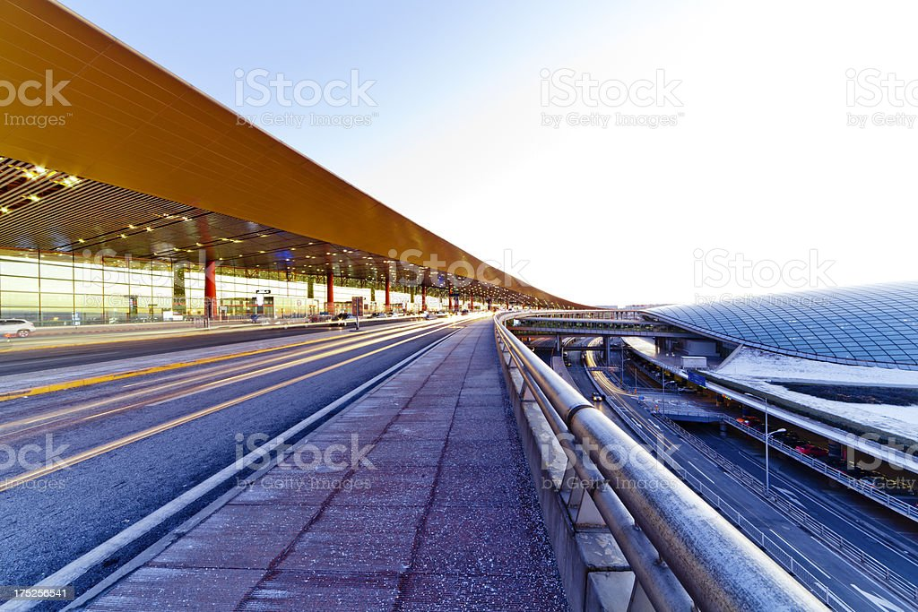 Beijing Capital International Airport traffic royalty-free stock photo