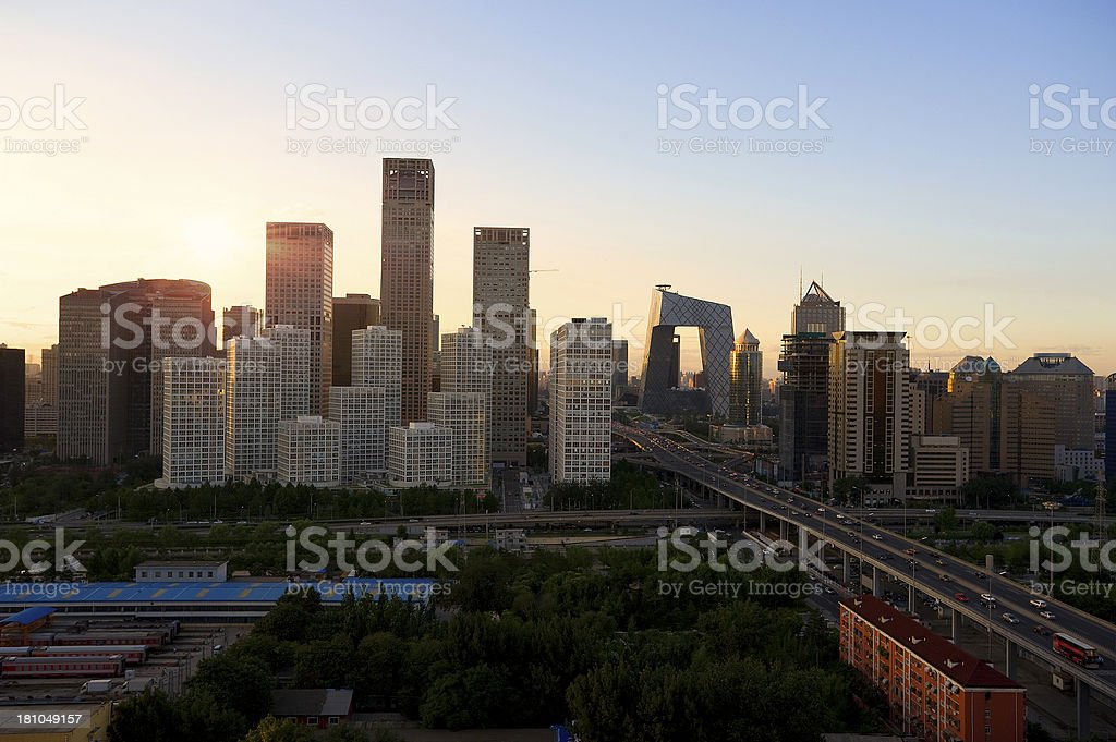 Beijing Central Business district buildings skyline, China cityscape royalty-free stock photo